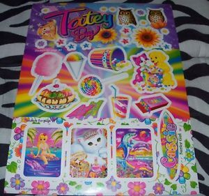 New Large Sheet Lisa Frank Stickers Page Candy Junk Food Owls Surfer Girl Cat G