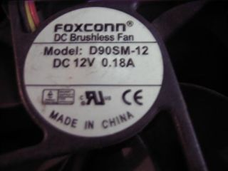 Foxconn D90SM 12 DC Brushless Fan 12V 18A CS Bearing