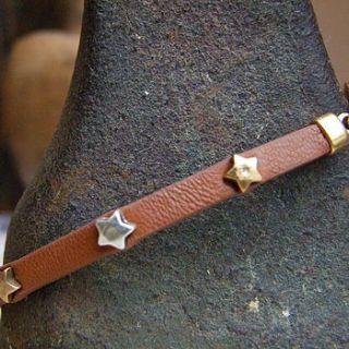 star studded leather bracelet by home & glory