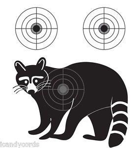 Raccoon Silhouette Shooting Target 100 Qty Pistol Gun Targets Range Cheap Coon
