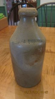 Antique Vintage Stoneware Advertising Bottle