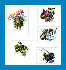 12 Teenage Mutant Ninja Turtles Temporary Tattoos Party Favors