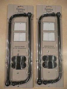 """2 Sets Finishing Touch Swing Arm Adjustable Curtain Rod 14"""" to 24"""""""
