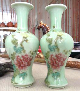Antique Chinese Blue Porcelain Vases