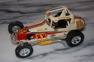 Built 1 24 25 Scale Model Vintage 1970's Sprint Car White Red