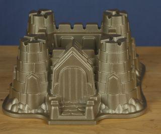 Nordic Ware Castle Bundt Cake Mold Pan Sandcastle Heavy 10 Cup