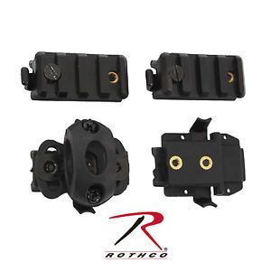 Airsoft Helmet Picatinny Rail Light Adapter Clamp 4 Piece Accessory Pack Kit