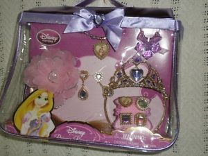 10 PC Rapunzel Costume Accessories Jewelry Set Tiara Hair Piece etc Disney Store