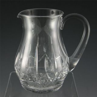 Atlantis Cut Crystal Glass Water Pitcher Signed