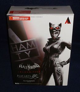 "Arkham City Catwoman Play Arts Kai 9"" Action Figure Square Enix Batman Asylum"