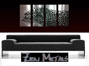 Abstract Metal Wall Art Contemporary Modern Decor Cheetah New Sculpture Origina