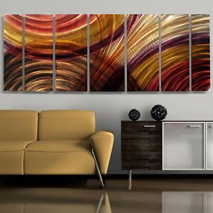 Red Abstract Metal Wall Art