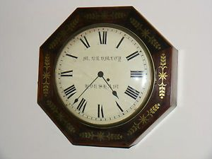 Impressive Large Antique 19thC Georgian Fusee Wall Clock C 1804 M Bromley