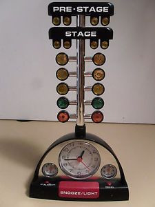 Race Track Drag Racing Electronic Tree Alarm Clock Light Sound