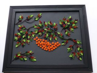 Rowan Tree Handmade Picture Paper Quilling Wall Decor Frame Included