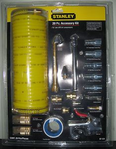 """20 Piece Stanley 1 4"""" Air Compressor Tool Accessory Kit"""