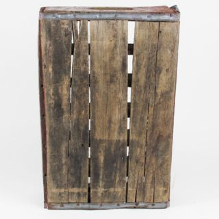 Vintage Antique Dr Pepper Wooden Crate 24 Bottle Wood Caddie Burgundy White 19B