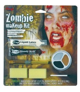 Rotten Flesh Undead Zombie Blood Liquid Latex Makeup Kit Costume Accessory New