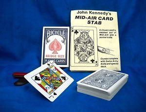 Vintage c1980 John Kennedy Mid Air Card Stab Magic RARE Collectible