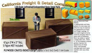 Plywood Wooden Crates Large 3pcs Scale Model Masterpieces s sn2 Sn3 1 64