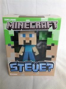 "Minecraft Steve 6"" Vinyl Action Figure Toy PIK Axe Block Limited"