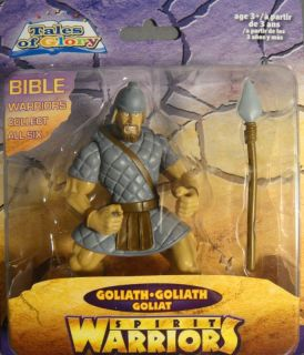 """Tales of Glory Spirit Warriors Goliath 5"""" Collectible Bible Toy Action Figure"""