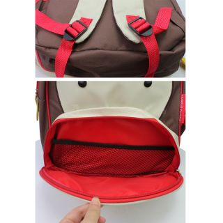 Kids Baby Unisex Cute Animal Monkey Cartoon Backpack Shoulder Book School Bag