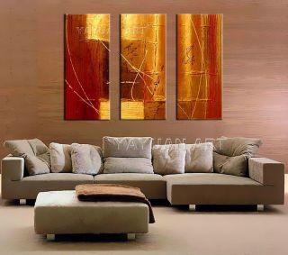 Heat!Modern Abstract Handmade Art Oil Painting on Canvas Wall Decor No Frame
