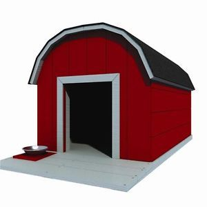 "30"" x 36"" Dog House Plans Gambrel Roof Pet Size to 60 lbs Med Dog 11"