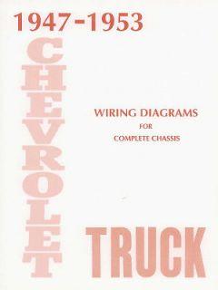 1947 1951 1952 1953 Chevrolet Truck Electrical Wiring Diagrams Schematics Book