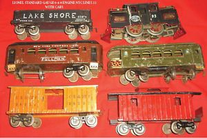 Lionel Early Pre War 33 Engine 1918 1920 Plus 7 Cars