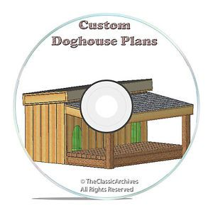 Insulated Dog House Plans Complete Set Medium Sized Dog Kennel Plans Porch