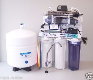 9 Stage Alkaline Reverse Osmosis System UV Booster Pump