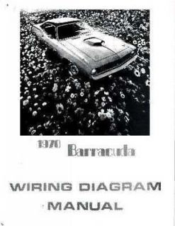 1970 Plymouth Barracuda Electrical Wiring Diagrams Schematics Factory