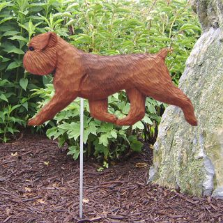Brussels Griffon Natural Dog Figure Garden Stake Home Yard Dog Products Gifts