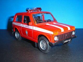 Vaz 2121 Lada Niva Fire Dept Engine Russian 4x4 Car Metal Diecast Model 1 36