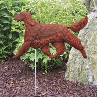 Irish Setter Dog Figure Garden Stake Home Yard Decor Dog Breed Products Gifts