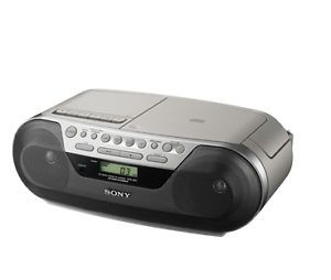 New Sony Portable Boombox CD Am FM Radio Cassette Recorder Player CFDS05