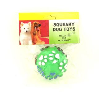 Colorful Voiced Sound Embossed Pet Dog Cat Toy Ball Talking Rubber Training Bell