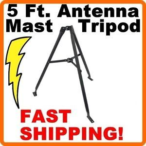"5' ft Foot 60"" inch Satellite TV Antenna Mast Tripod Roof Mount"