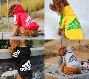 Pet Clothing Adidog Puppy Dog Warm Coat Clothes Apparel Hoodies Sweater T Shirt
