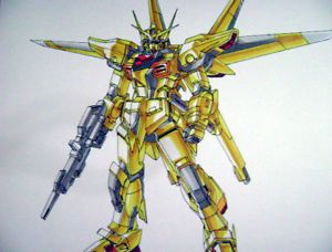 Akatsuki Gundam Seed Original Anime Color Pin Up Art