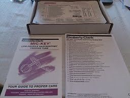 Kimberly Clark Mic Key Low Profile Gastrostomy Feeding Tube Kit 18FR 1 5cm
