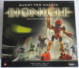 Quest for Makuta Bionicle Adventure Board Game Complete 2001 Rose Art Lego