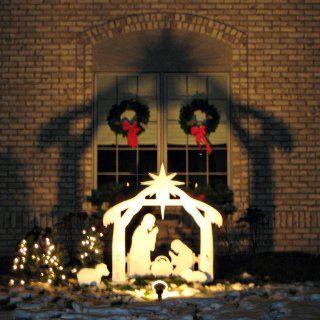 Teak Isle Christmas Outdoor Nativity Set Yard Nativity Scene Angels Wise Men