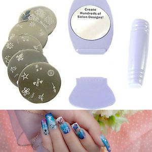Fun Easy Nail Salon Design DIY Nail Art Stamp Plates Manicure Decor Tool Paint
