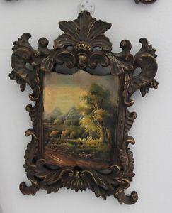 Antique Folk Art Oil Painting