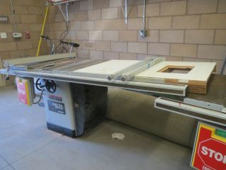 Delta Industrial Unisaw w Easy Off Power System Table Biesemeyer Fence