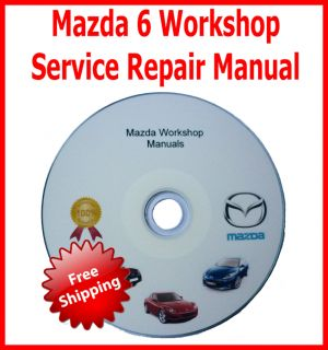 Mazda 6 Workshop Service Repair Manual CD Covers Engines L8 LF L3 Autoplay CD
