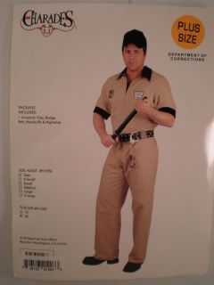 Department of Corrections Officer Prison Guard 3X Costume